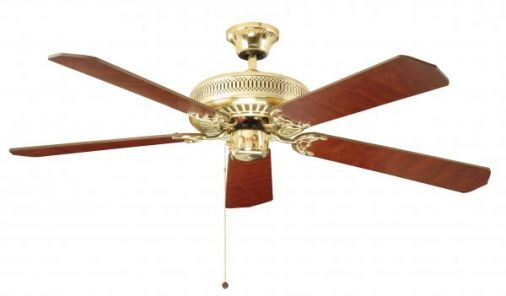 Fantasia Classic Polished Brass Ceiling Fan 132cm / 52""