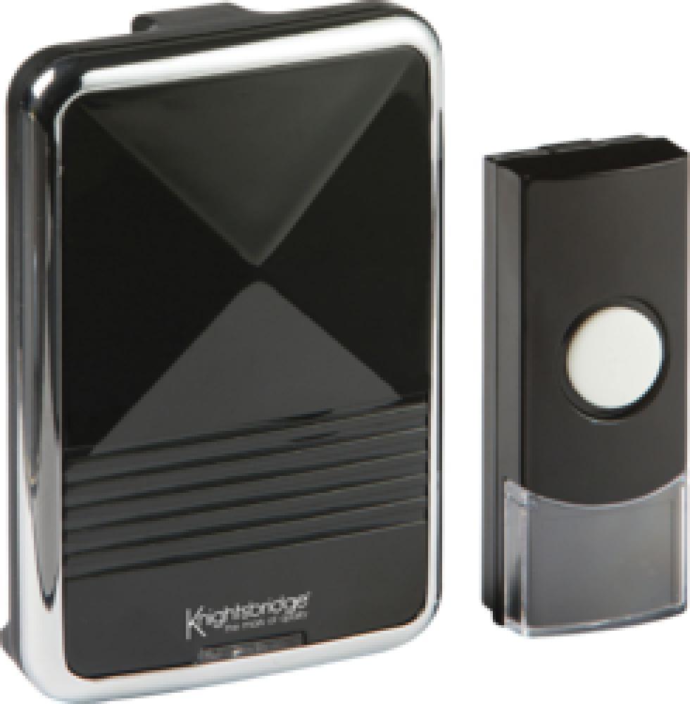 Knightsbridge Black Wireless Door Chime (200m range)