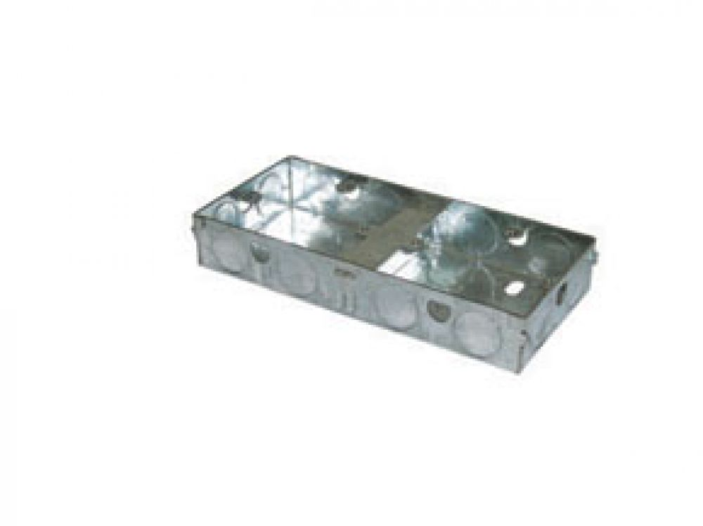 Greenbrook Dual Galvanised Steel Flush Mounting Box 35mm