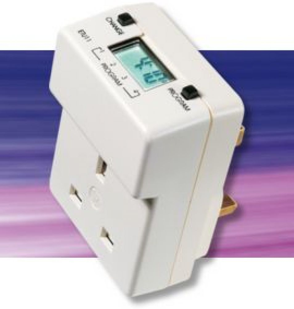 Timeguard ETU17 Digital 7 Day Plug-In Time Controller 13A
