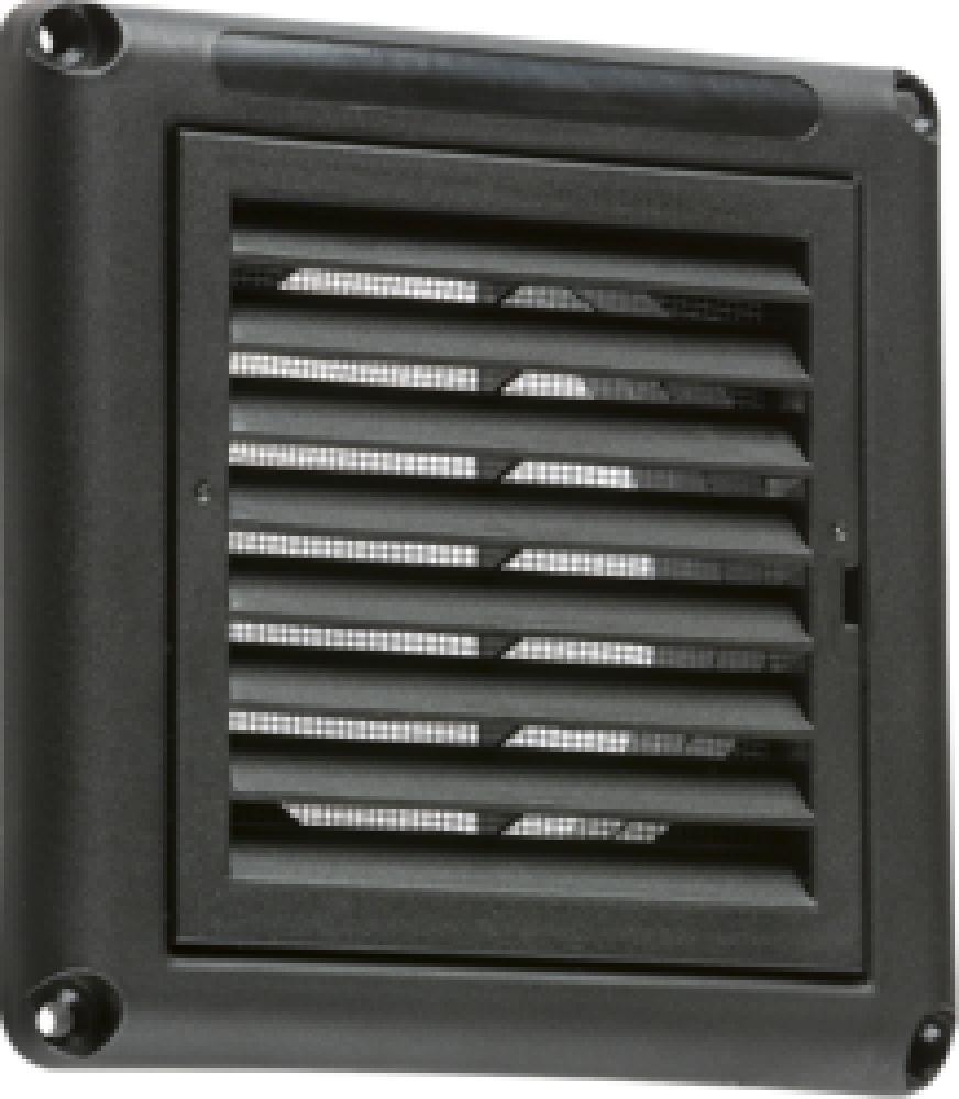 "Knightsbridge 100mm/4"" Extractor Fan Grille with Fly Screen - Black"
