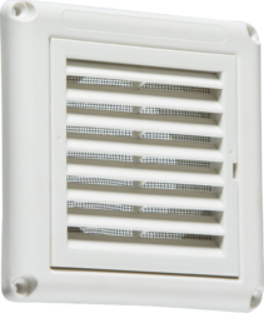 """Knightsbridge 100mm/4"""" Extractor Fan Grille with Fly Screen - White"""