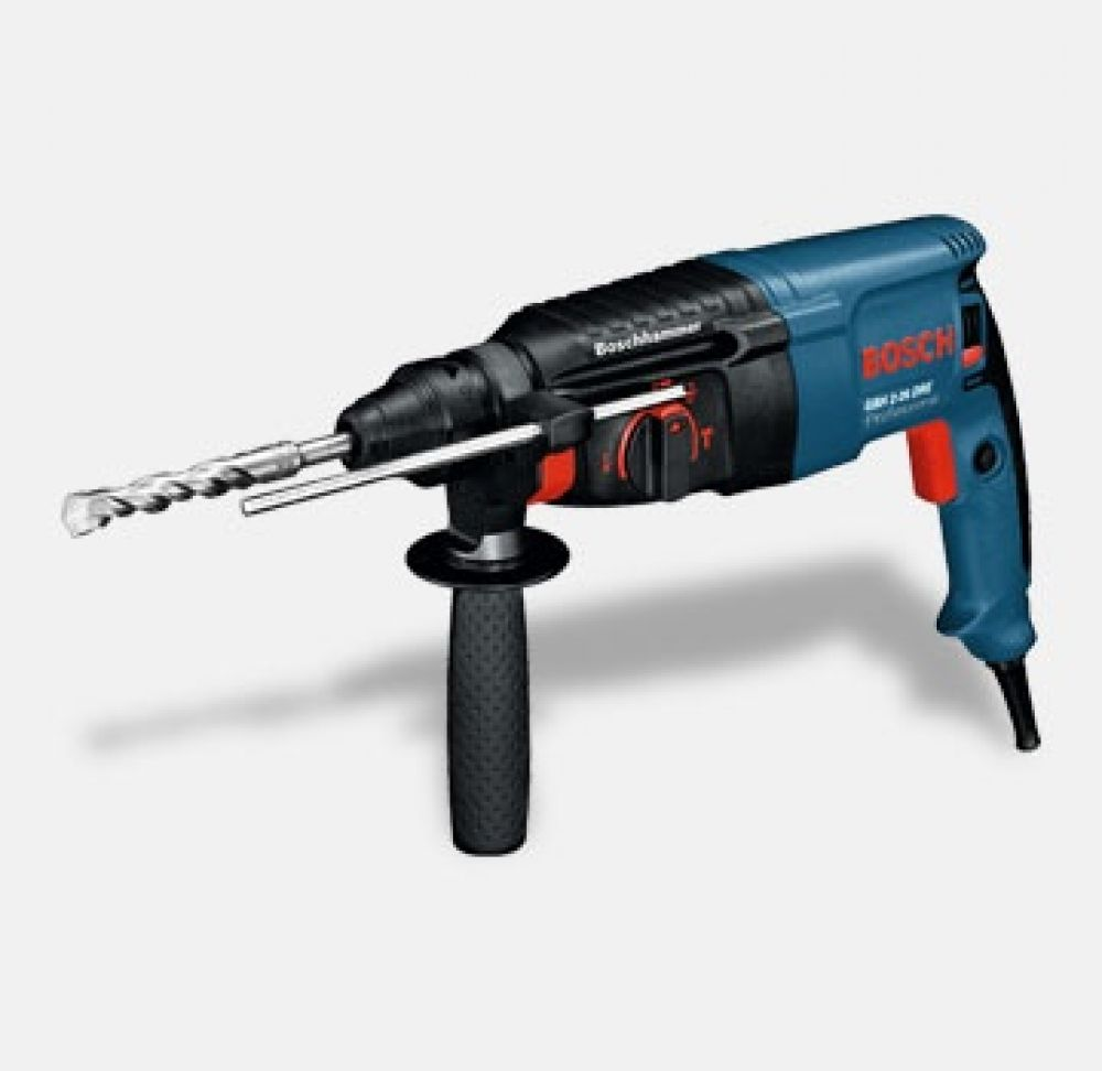 Bosch GBH2-26DRE1 240V 2Kg 3 Mode SDS Rotary Hammer Drill. Complete with 13mm Chuck & Adaptor.