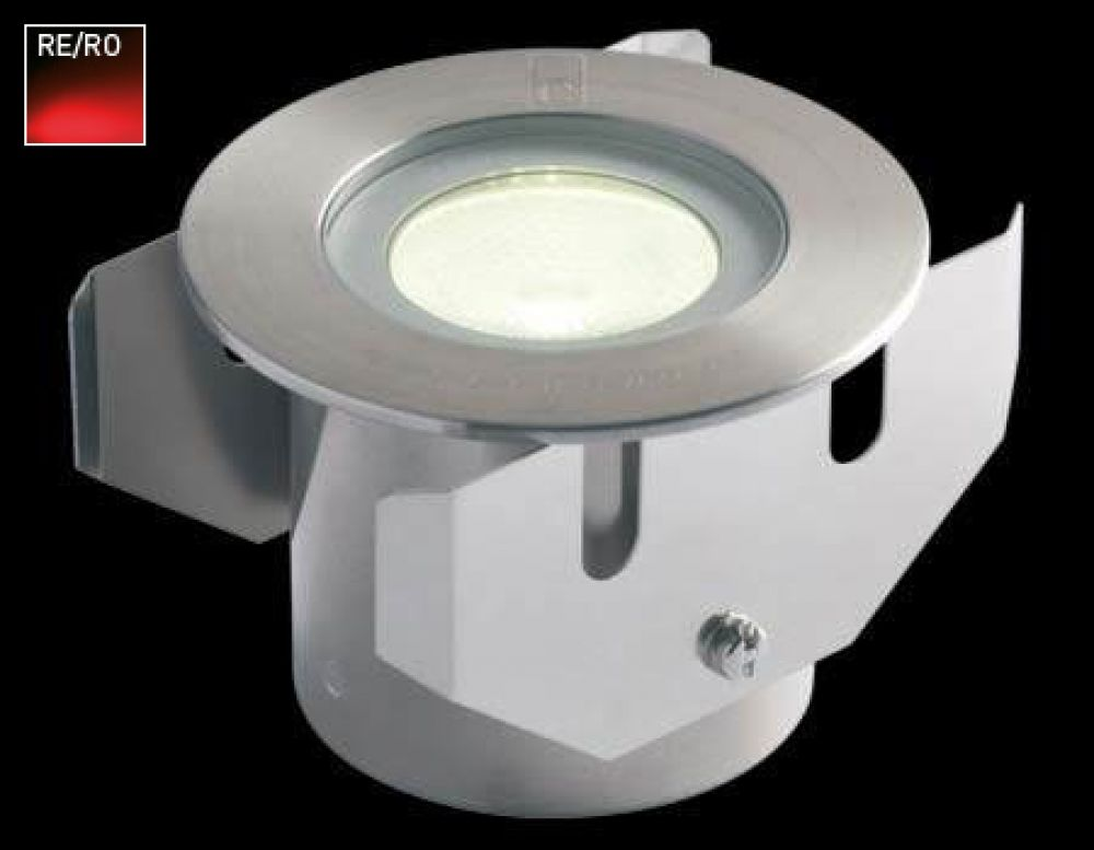 Collingwood 1W LED Ground Light Stainless Steel Bezel with Red LED