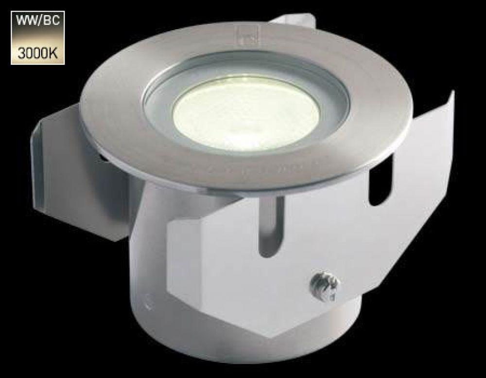 Collingwood 1W LED Ground Light Stainless Steel Bezel with Warm White 3000K LED