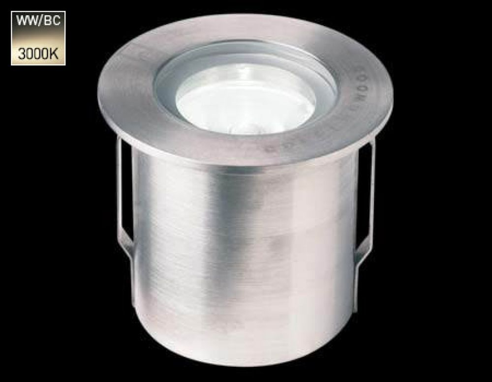 Collingwood 1W Mini LED Ground Light Stainless Steel with Warm White 3000K LED