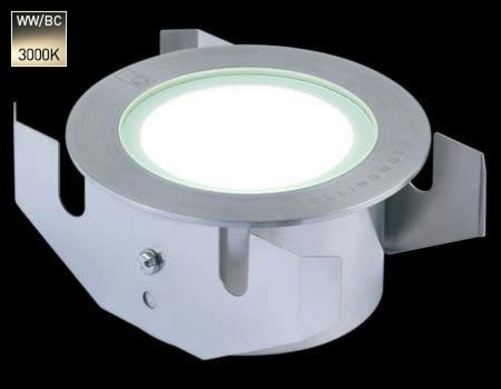 Collingwood 3W LED Ground Light Stainless Steel with Warm White 3000K LED