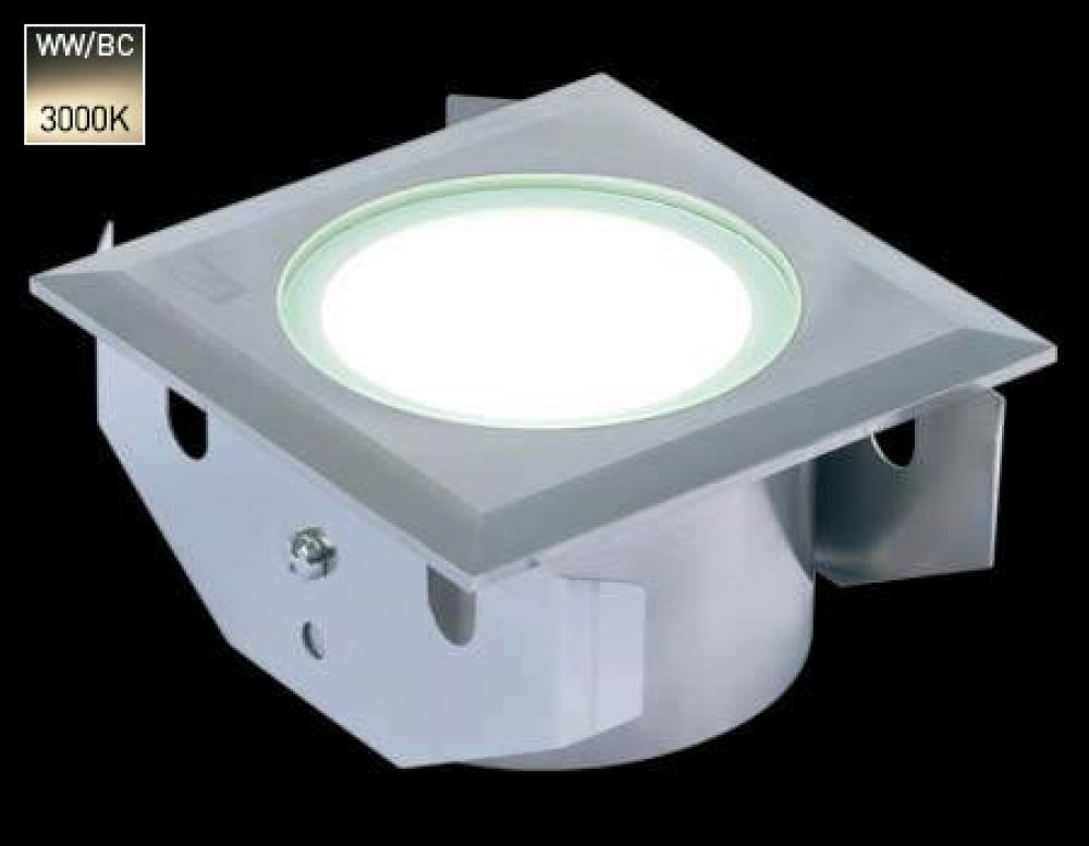 Collingwood 3W Square LED Ground Light Stainless Steel with Warm White 3000K LED
