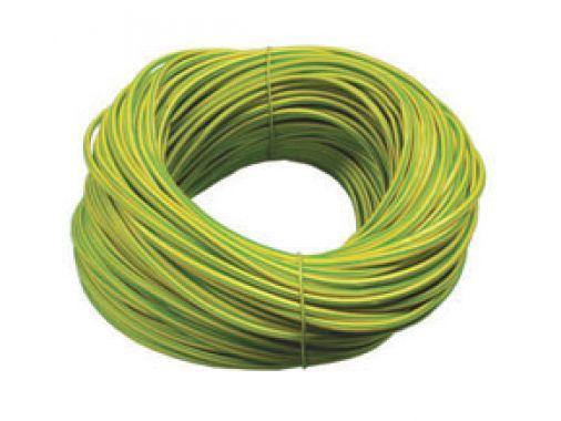 Greenbrook 2mm Green & Yellow PVC Sleeving 100m Hank