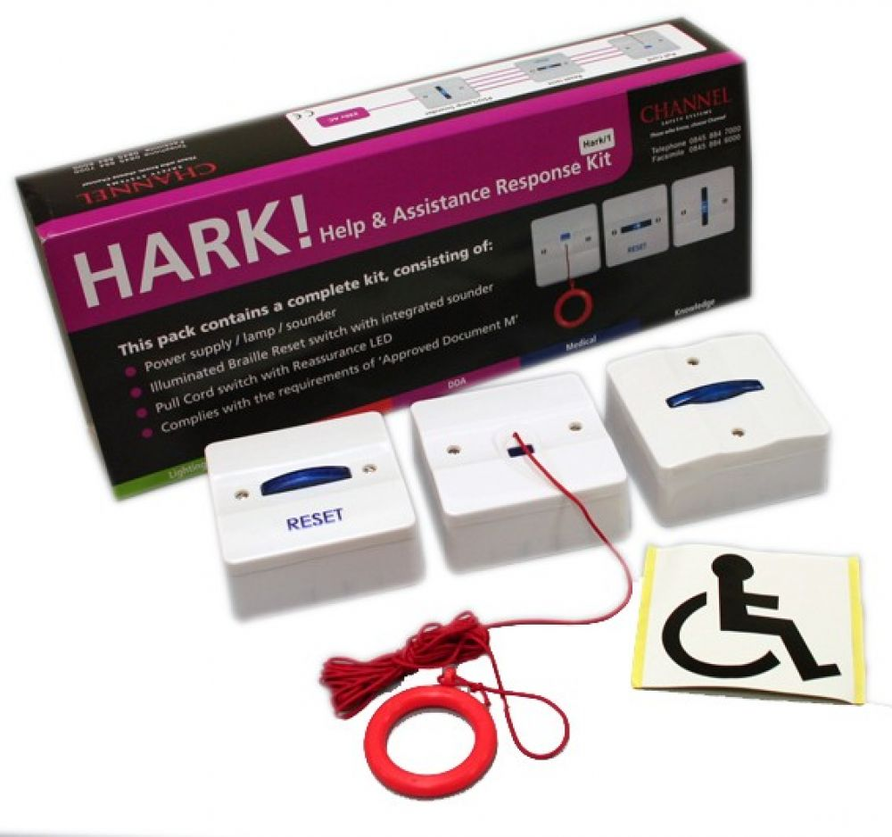 Channel HARK/1 Emergency Assist Single Zone Disabled Toilet Alarm System Kit