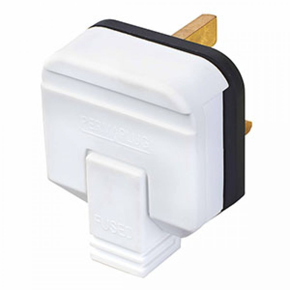 BG Heavy Duty Rewirable 13A Plug Top White