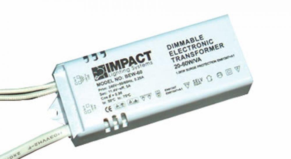 Electronic Dimmable Transformer,12v 20-60va,Soft Start,Leaded