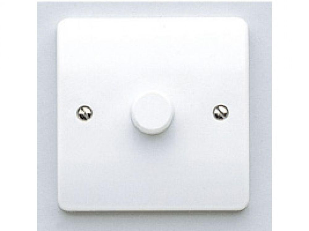 MK Logic Plus K1534WHI White 1 Gang 2 Way Push Dimmer Switch 250W