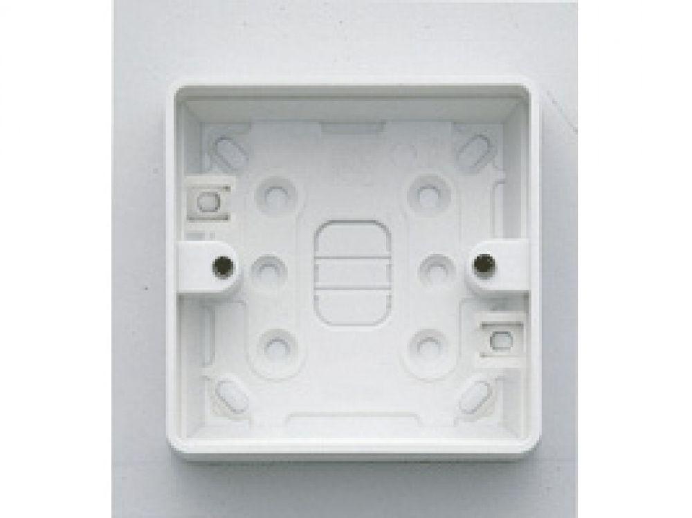 MK Logic Plus K2181WHI White PVC 1 Gang Surface Mounting Box c/w Round Corners 32mm