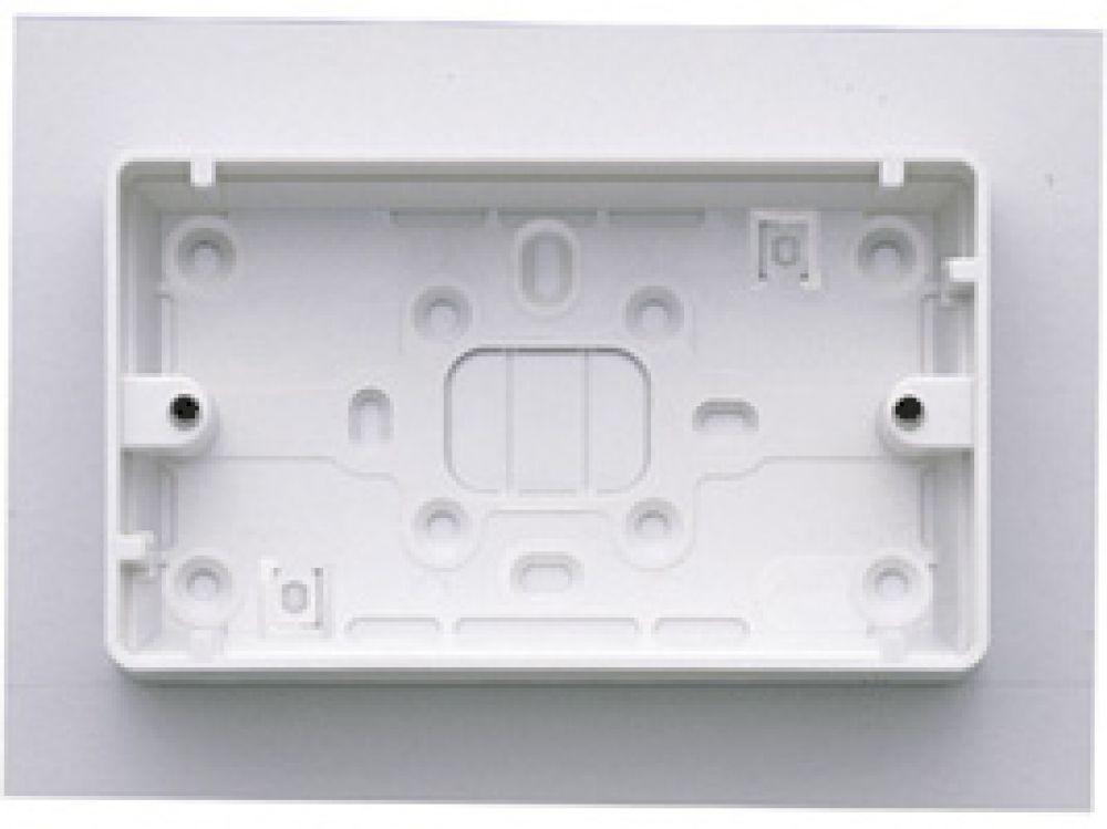 MK Logic Plus K2183WHI White PVC 2 Gang Surface Mounting Box c/w Round Corners 32mm