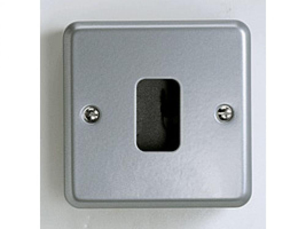 MK Metalclad Plus Grid Plus K3491ALM 1 Module Front Plate