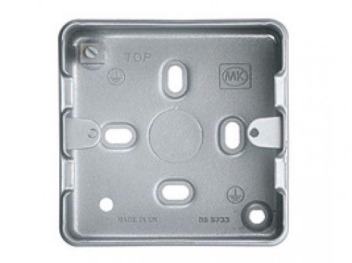 MK GRID PLUS K8891ALM 1 & 2 Gang  Metalclad Plus Grid Mounting Box 40mm