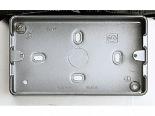 MK GRID PLUS K8892ALM 3 & 4 Gang  Metalclad Plus Grid Mounting Box 40mm