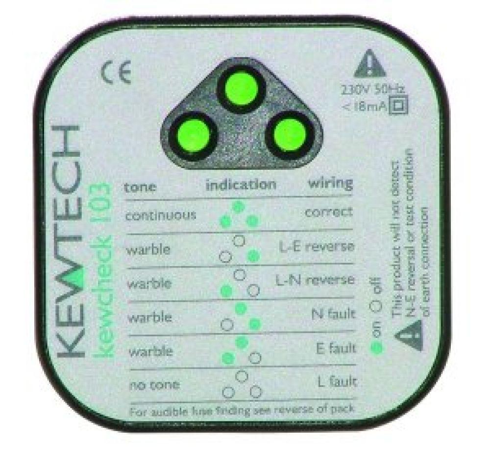 Kewtech KEWCHECK103 Mains Socket Tester