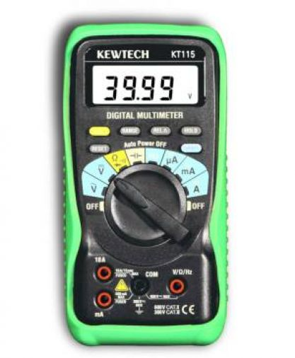 Kewtech KT115 Digital Multimeter c/w Batteries & Test Leads