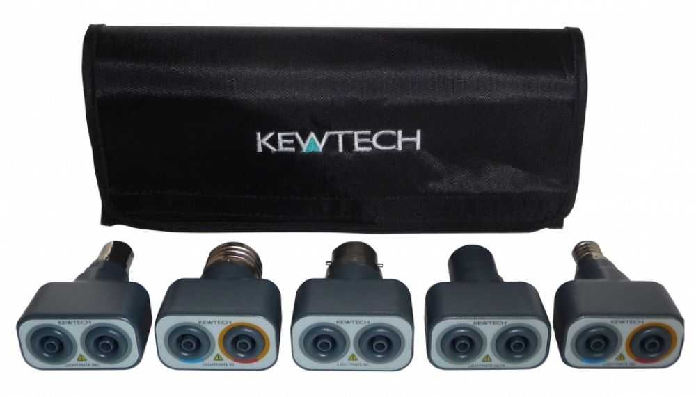 Kewtech Lighting Circuit Adaptors, Kit of 5 Lightmates