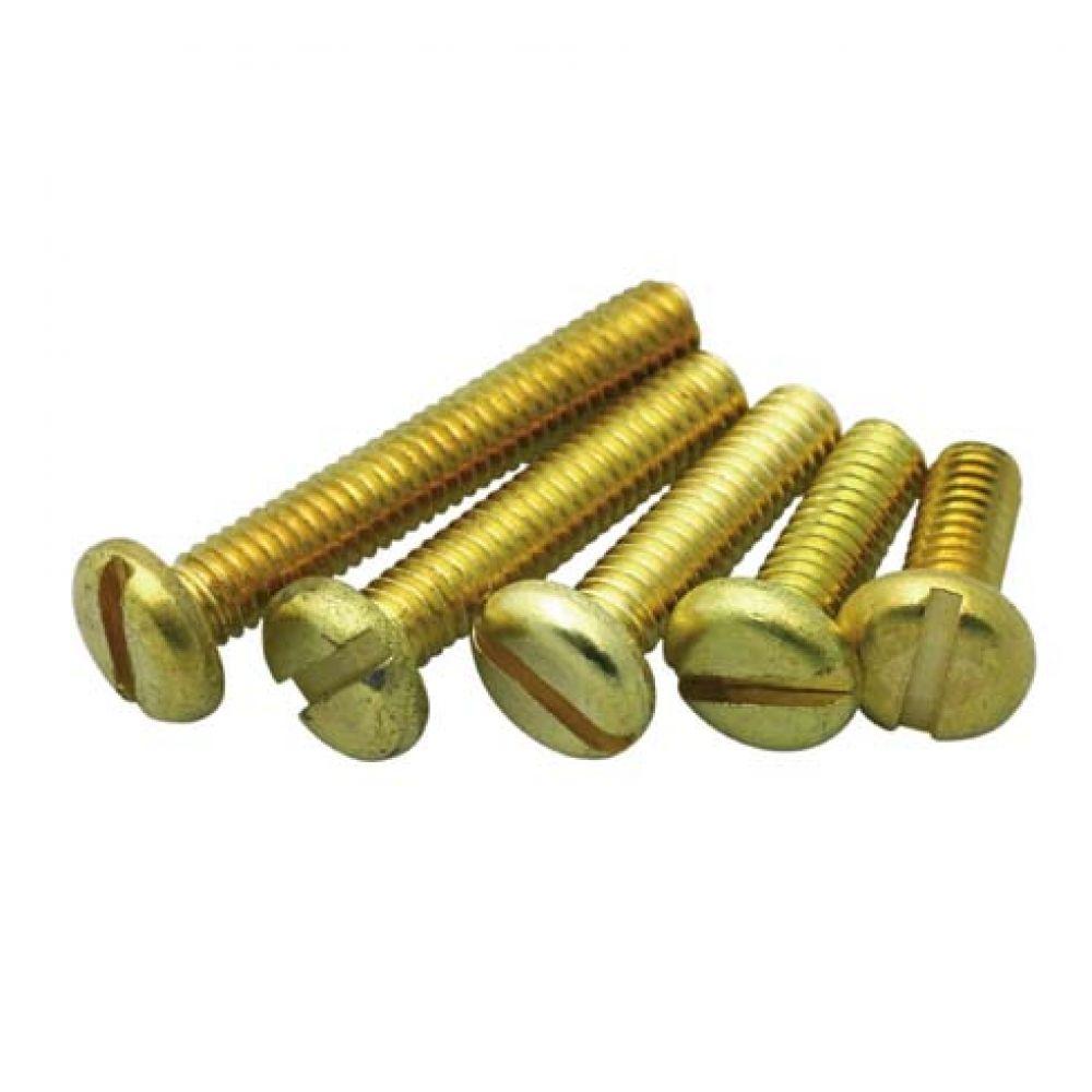 Brass Pan Head Machine Screw M4 x 25mm