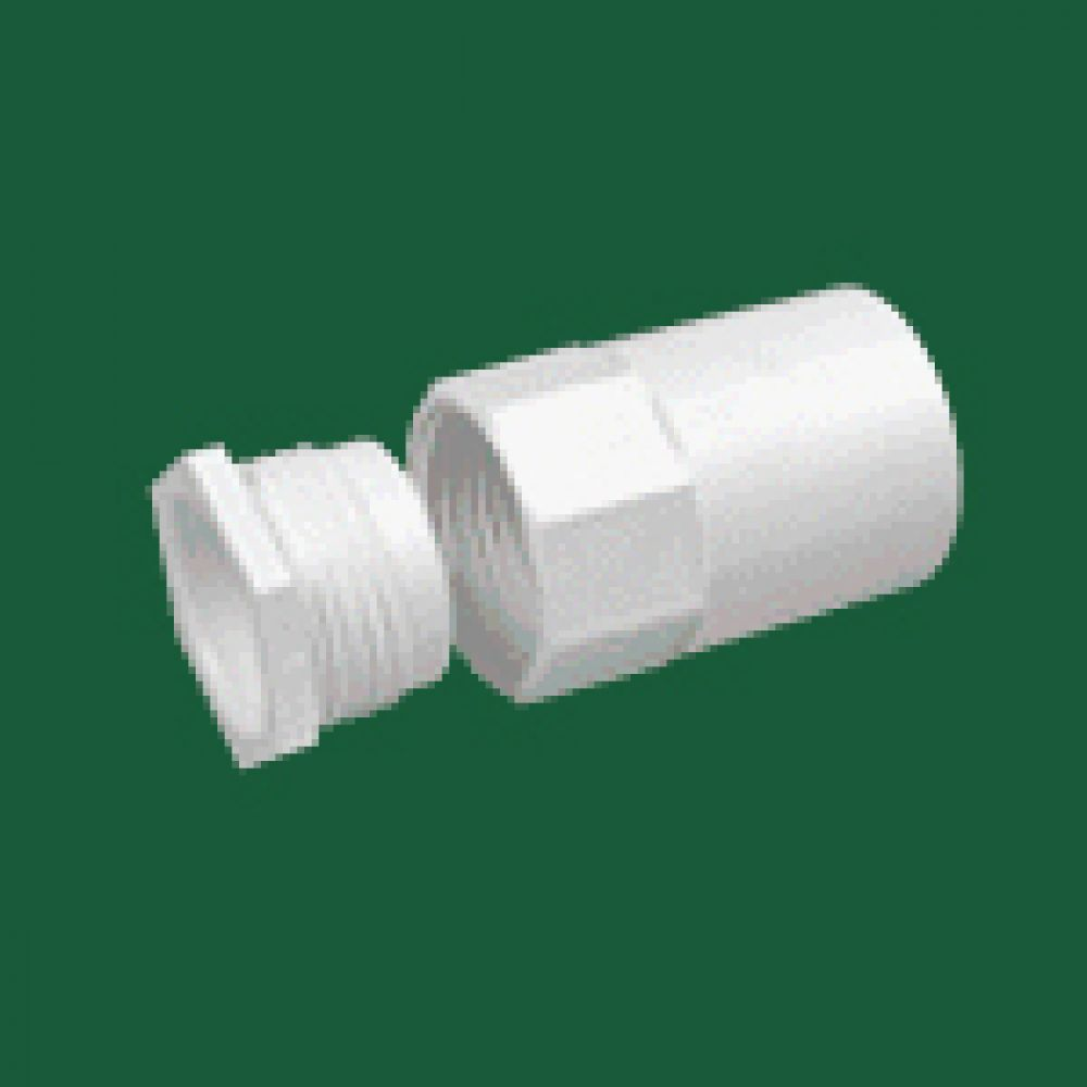 Marshall Tufflex White PVC Female Thread Adaptor 20mm