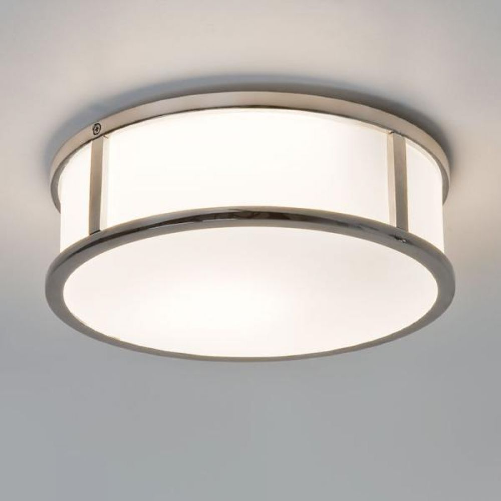 Astro Lighting 1121021 Mashiko Round 230 7179 Bathroom Ceiling Light. Polished Chrome Finish