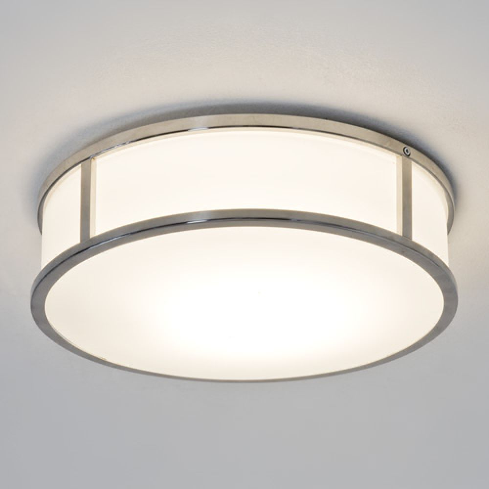 Astro Lighting 1121017 Mashiko Round 300 7077 Bathroom Ceiling Light. Polished Chrome Finish