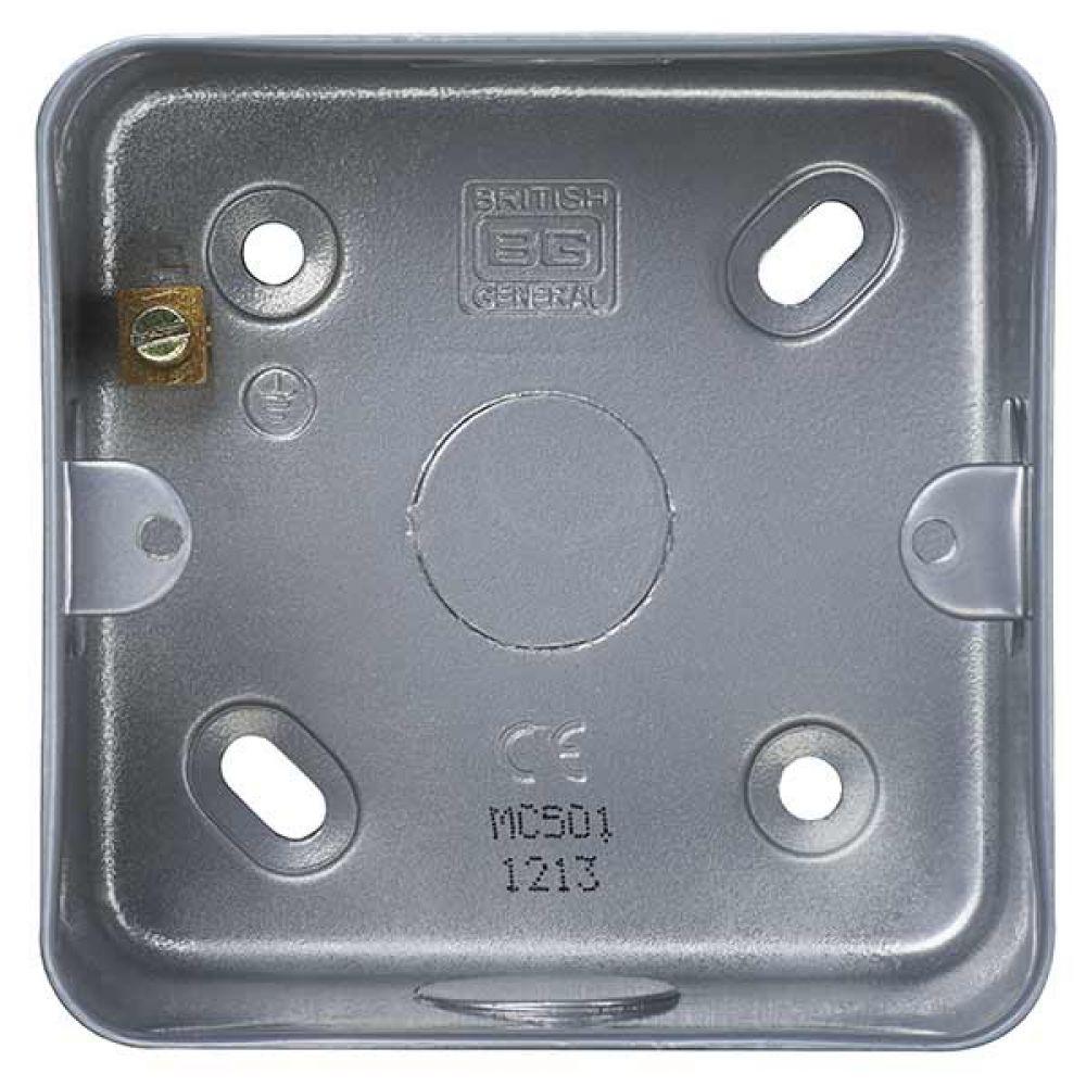 BG Metal Clad 1 Gang Surface Mounting Box