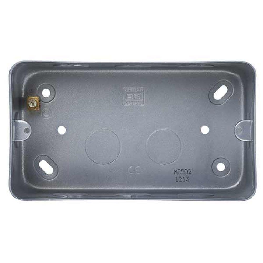 BG Metal Clad 2 Gang Surface Mounting Box