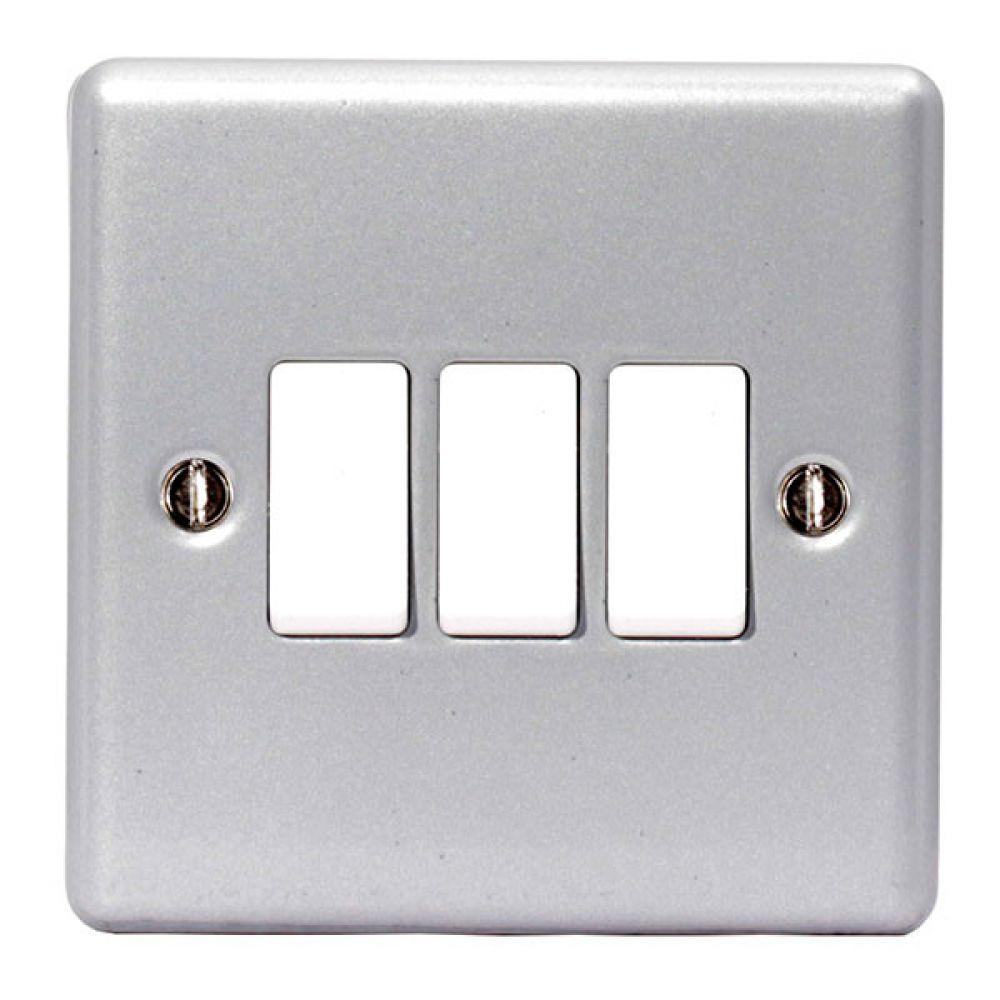 BG Metal Clad 3 Gang 2W 10AX Switch