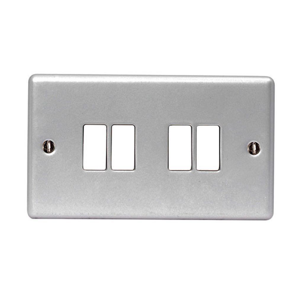 BG Metal Clad 4 Gang 2W 10AX Switch