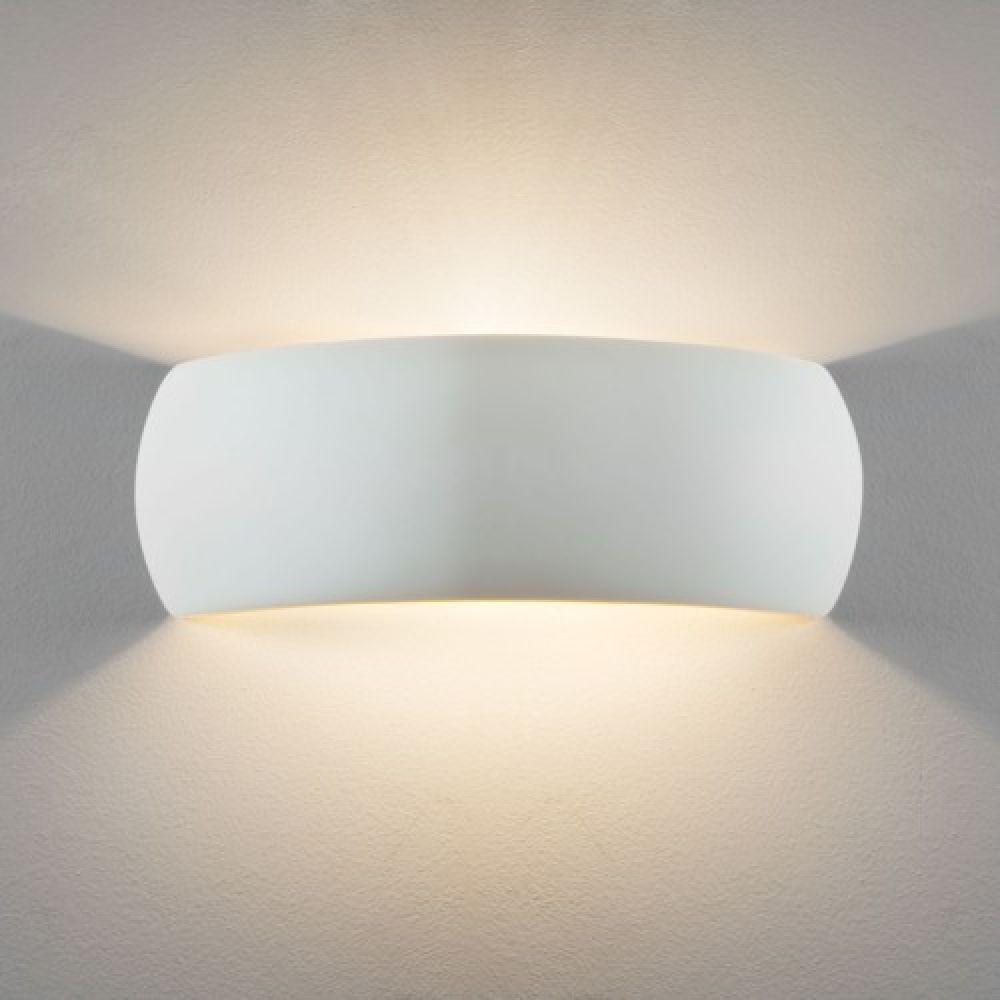 Astro Lighting 1299002 Milo 400 7506 Interior Wall Light. White Ceramic Finish
