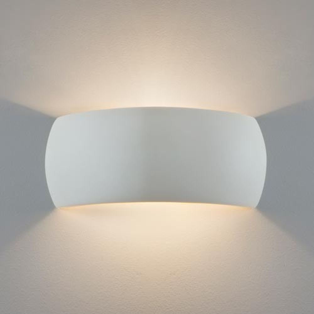 Astro Lighting 1299001 Milo 7073 Interior Wall Light. White Ceramic Finish