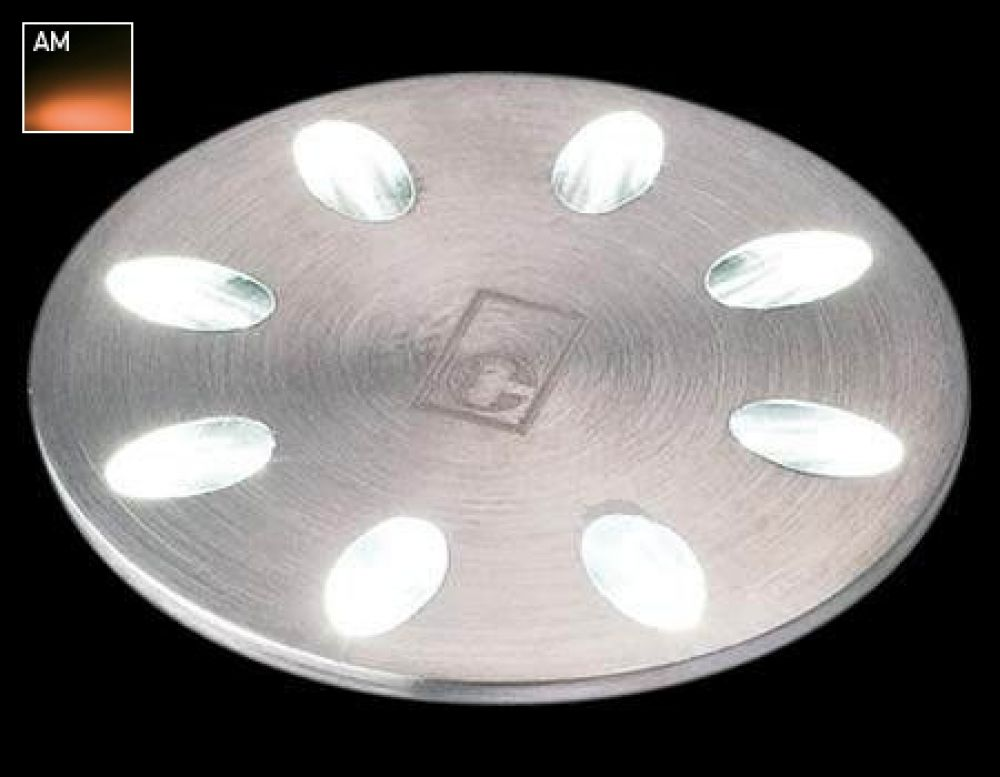 Collingwood 1W Decorative LED Mini Light Stainless Steel with Amber LED