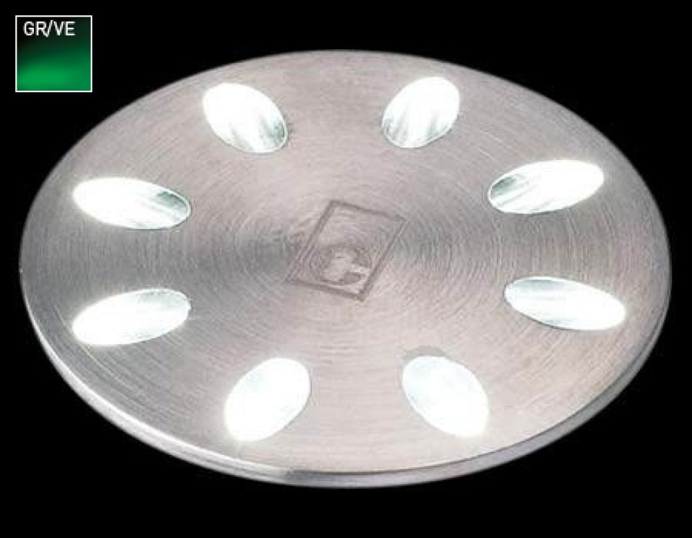 Collingwood 1W Decorative LED Mini Light Stainless Steel with Green LED