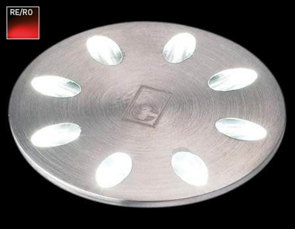 Collingwood 1W Decorative LED Mini Light Stainless Steel with Red LED