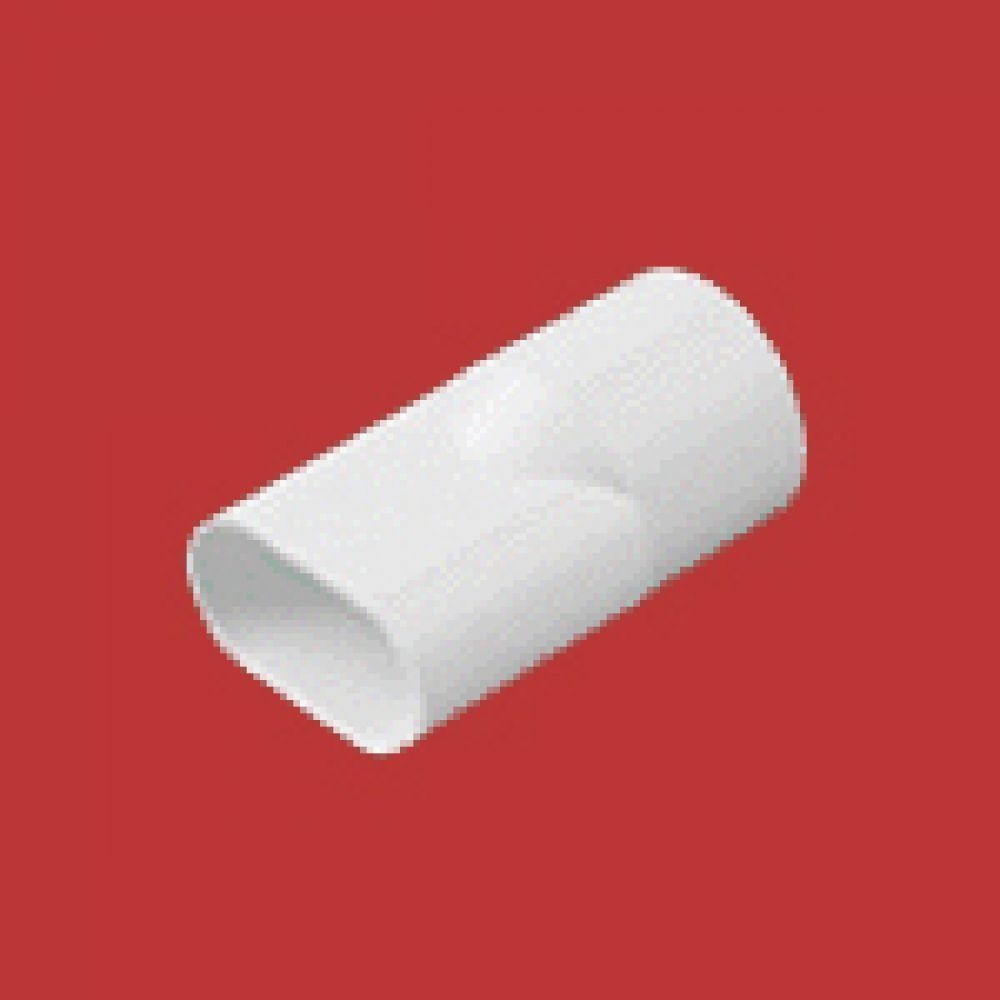 Marshall Tufflex White PVC Oval To Round Adaptor 20mm