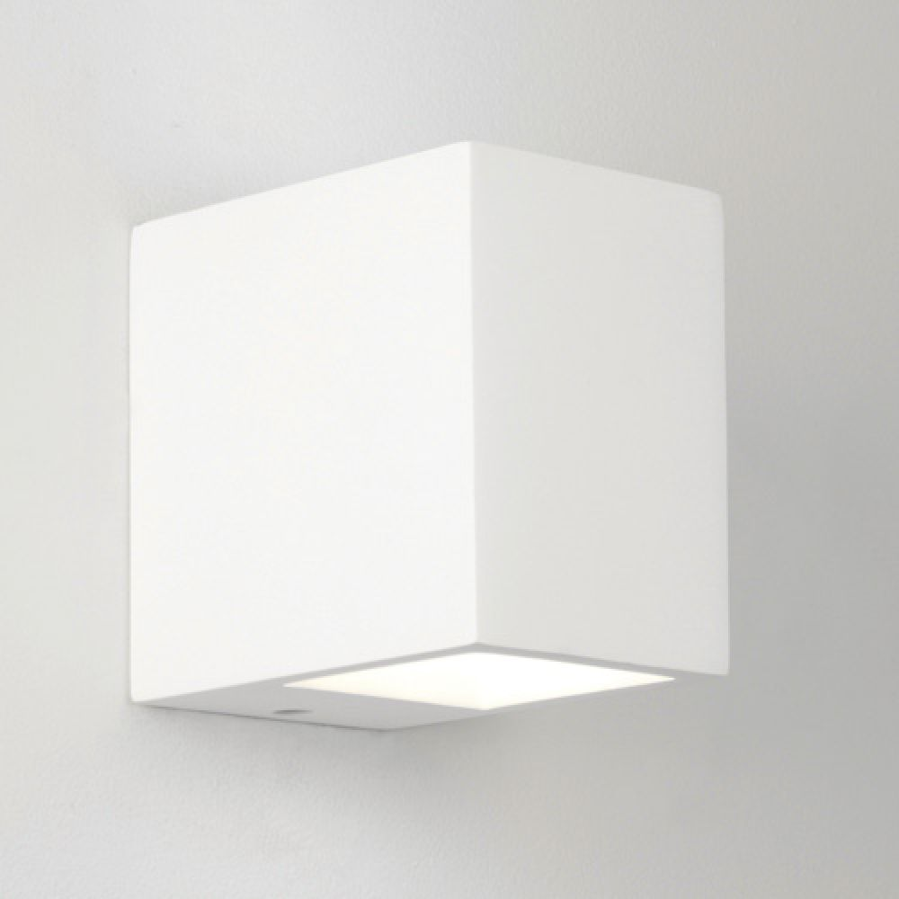 Astro Lighting 1173001 Mosto 0813 Interior Wall Light. White Plaster Finish.