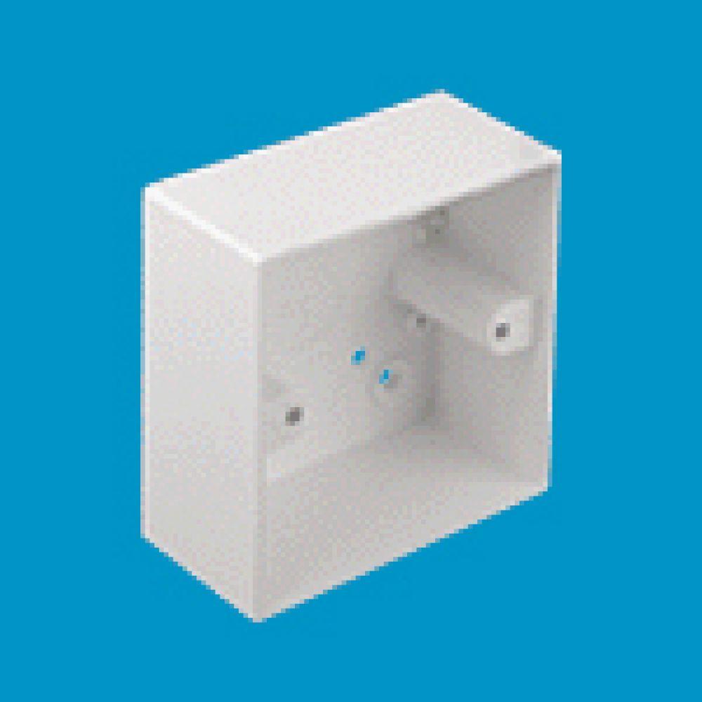 Marshall Tufflex 1 Gang Conduit Mounting Box C/W Square Corners 44mm
