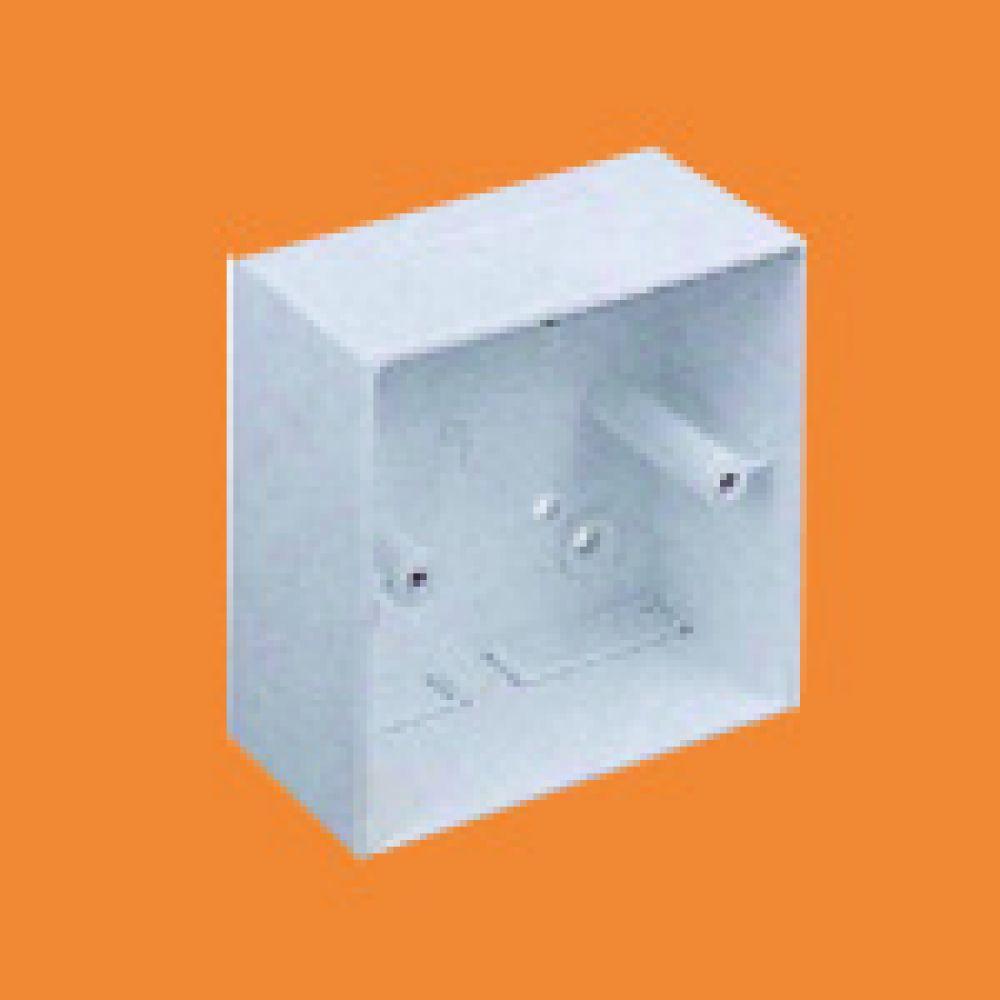 Marshall Tufflex 1 Gang Mini Trunking Mounting Box C/W Square Corners 44mm