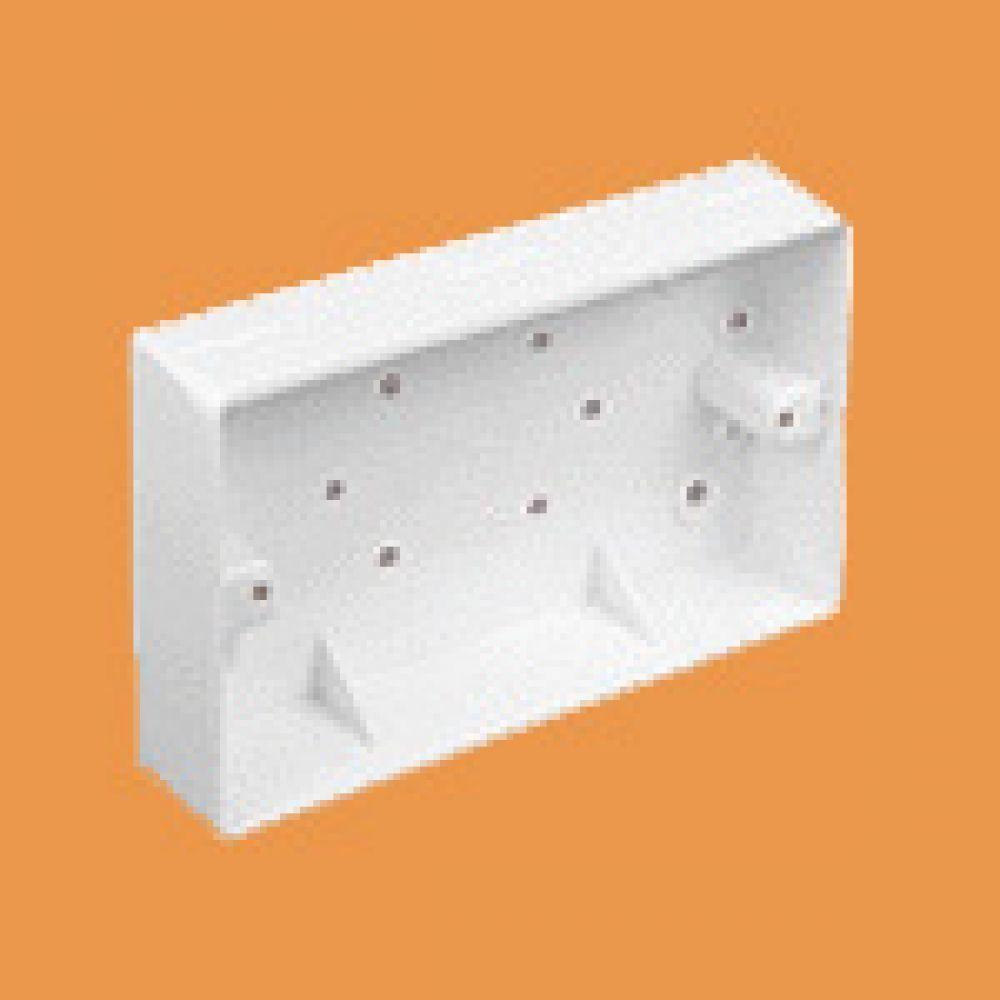 Marshall Tufflex 2 Gang Mini Trunking Mounting Box c/w Radius Corners 32mm