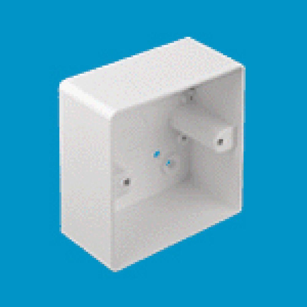 Marshall Tufflex 1 Gang Conduit Mounting Box C/W Round Corners 44mm