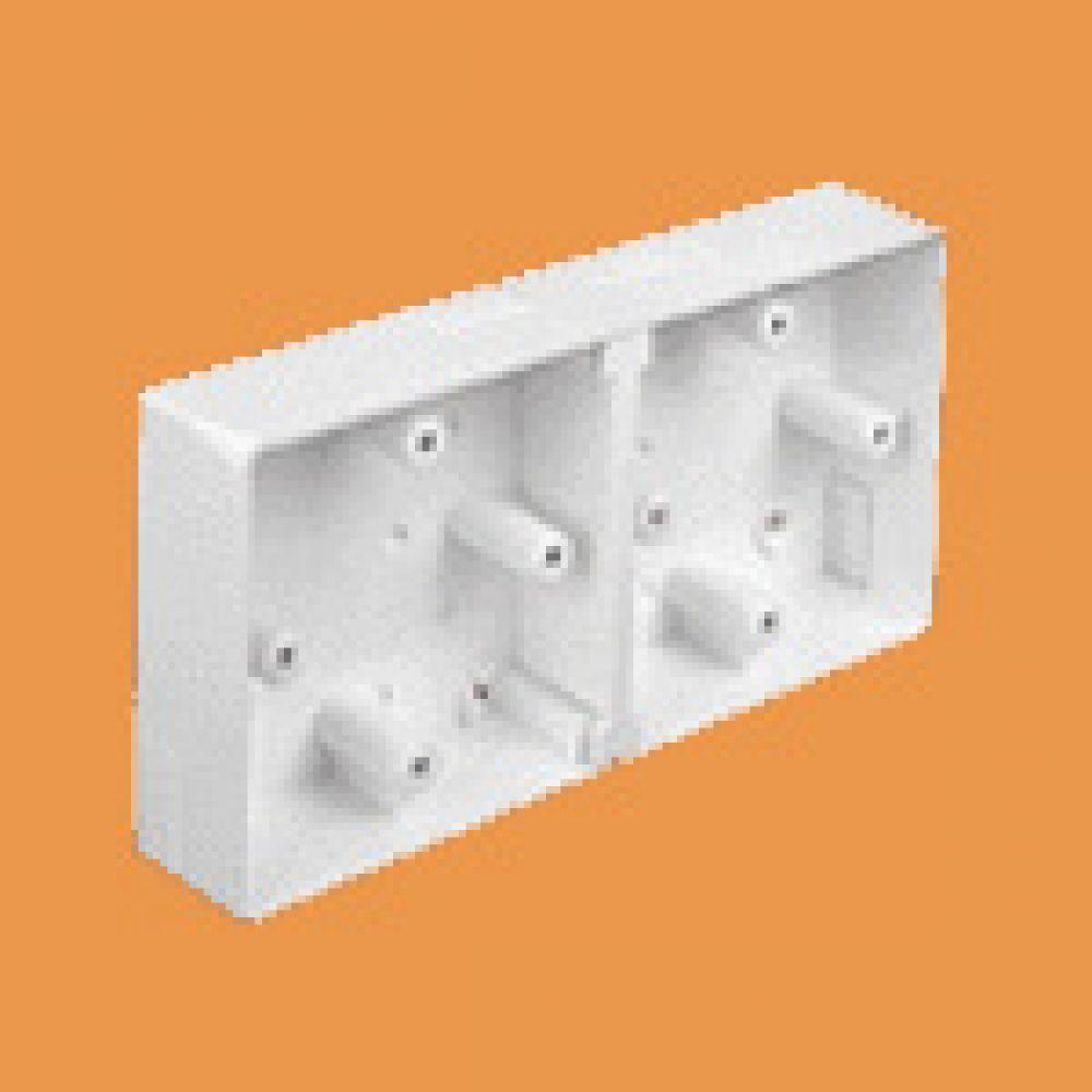 Marshall Tufflex Dual Mini Trunking Mounting Box C/W Round Corners 32mm
