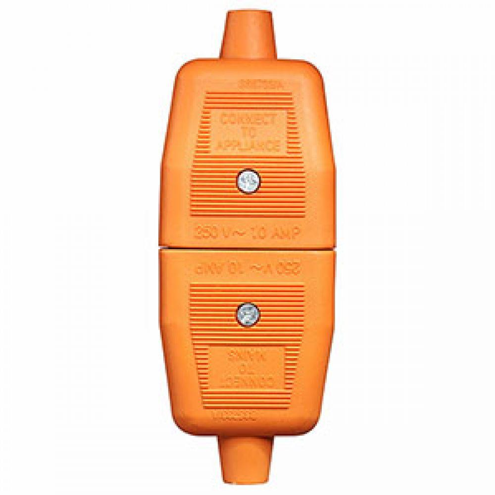 BG Heavy Duty Inline 2 Pin Connector Orange