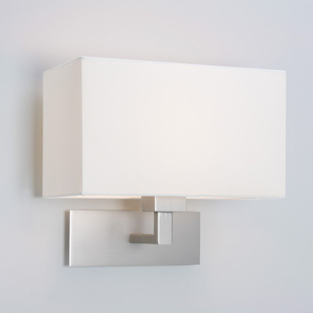 Astro Lighting 1080009 Park Lane 0763 Interior Wall Light. Matt Nickel Finish with White Shade
