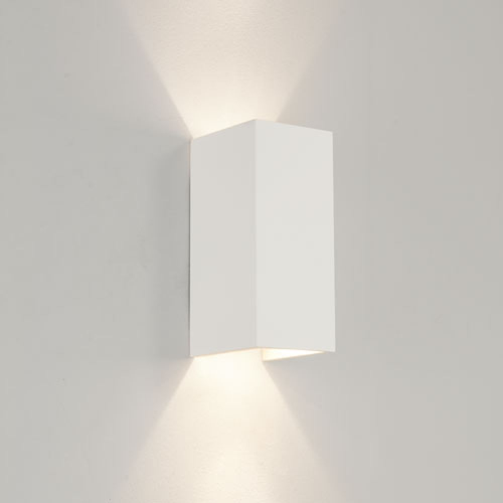 Astro Lighting 1187003 Parma 210 0964 Interior Wall Light. White Plaster Finish