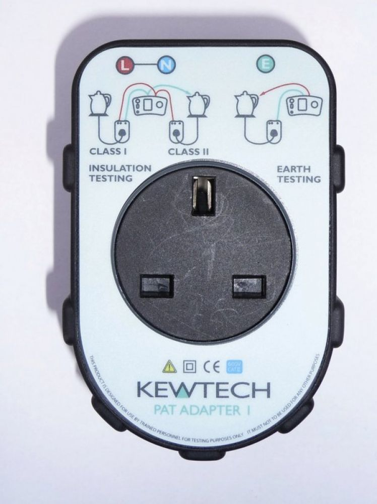 Kewtech Pat Test Adaptor Enables easy Pat Testing with an Insulation / Continuity Tester or a Multif