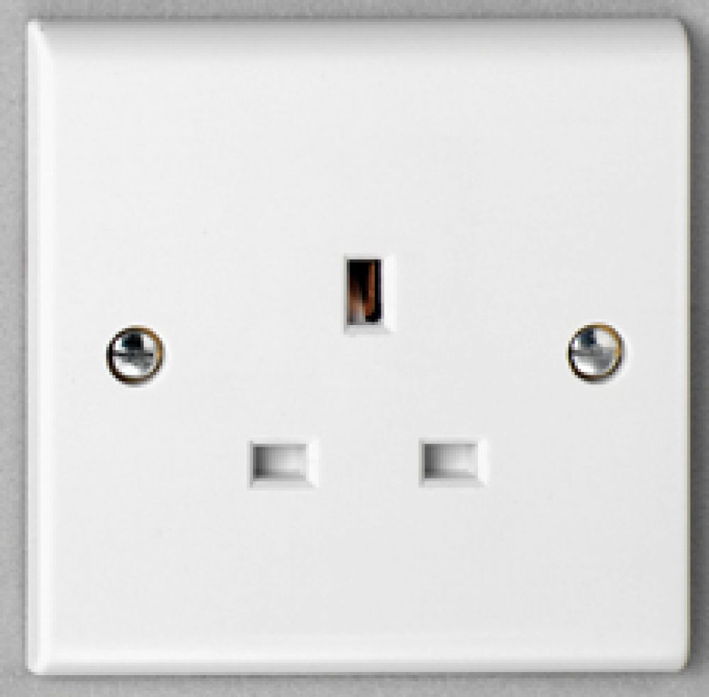 Deta S1206 1 Gang 13A Unswitched Socket